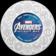 Pièce de Monnaie de Collection Infinity War - Édition Argent 65 mm