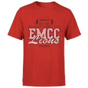 East Mississippi Community College Lions Distressed Men's T-Shirt - Red