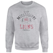 East Mississippi Community College Lions Distressed Football Sweatshirt - Grey