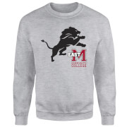 East Mississippi Community College Lion and Logo Sweatshirt - Grey