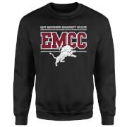 East Mississippi Community College Distressed Lion Sweatshirt - Black