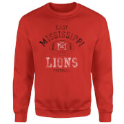East Mississippi Community College Lions Football Distressed Sweatshirt - Red