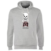 East Mississippi Community College Skull and Logo Hoodie - Grey