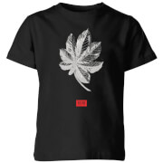 Natural History Museum Tropical Leaf Fashion Print Kids' T-Shirt - Black