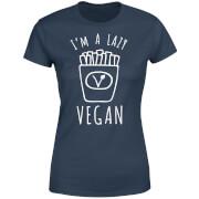 Lazy Vegan Women's T-Shirt - Navy