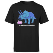Rawr It Means I Love You In Dinosaur Men's T-Shirt - Black