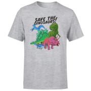 Save The Dinosaurs Men's T-Shirt - Grey