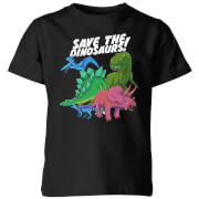 Save The Dinosaurs Kids' T-Shirt - Black