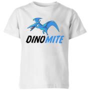 Dino Mite Kids' T-Shirt - White