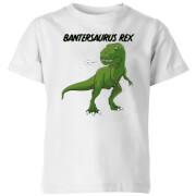 Bantersaurus Rex Kids' T-Shirt - White