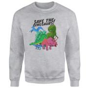 Save The Dinosaurs Sweatshirt - Grey