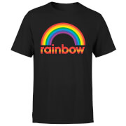 Rainbow Core Logo Men's T-Shirt - Black