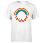 Rainbow Circle Logo Men's T-Shirt - White