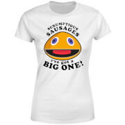 Rainbow Zippy Scrumptious Sausages Women's T-Shirt - White