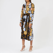 Stine Goya Women's Micaela Hexigons Silk Wrap Dress - Hexigons Amber