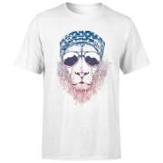 Bandana Lion Men's T-Shirt - White