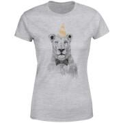 Party Lion Women's T-Shirt - Grey