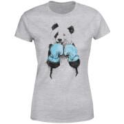 Boxing Panda Women's T-Shirt - Grey