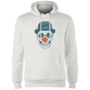 Red Nosed Skull Hoodie - White