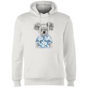 Koala Bear Hoodie - White