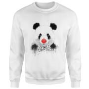 Red Nosed Panda Sweatshirt - White