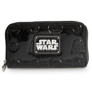Loungefly Star Wars Darth Vader Darkside Black Patent Zip Wallet