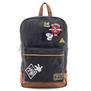 Loungefly Disney Mickey Mouse Patches Denim Backpack