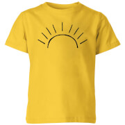 My Little Rascal Sun Linework Kids' T-Shirt - Yellow