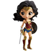 Banpresto Q Posket DC Comics Justice League Wonder Woman Figure 14cm (Normal Colour Version)