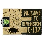 Rick and Morty (Dimension C-137 Black) Doormat