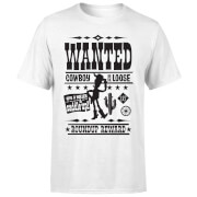 Toy Story Wanted Poster Men's T-Shirt - White