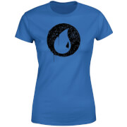 Magic The Gathering Blue Mana Splatter Women's T-Shirt - Royal Blue