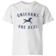 Unicorns Are Real Kids' T-Shirt - White