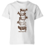 Cow Cow Nuts  Kids' T-Shirt - White