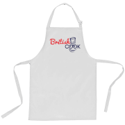 British Cook Logo Apron - White
