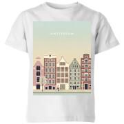 Amsterdam Kids' T-Shirt - White