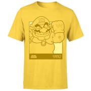 Nintendo Super Mario Wario Kanji Line Art Men's T-Shirt - Yellow
