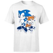 Sonic The Hedgehog Graffiti Herren T-Shirt - Weiß