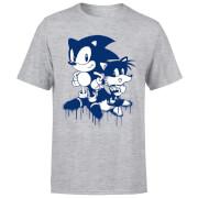 Camiseta Sonic The Hedgehog Grafiti - Hombre - Gris