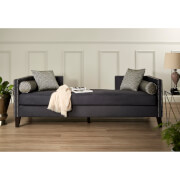 Fifty Five South Reginy 3 Seat Day Bed Sofa - Dark Grey Velvet