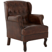 Fifty Five South Buffalo Armchair - Brown Leather