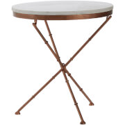 Fifty Five South Nirav Cross Leg Table - White Marble Top