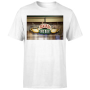 Friends Central Perk Coffee Sign Herren T-Shirt - Weiß