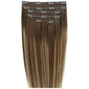 Beauty Works 45 cm Double Hair Set Clip-In Hair Extensions - #Mocha Melt