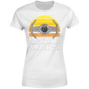 Star Wars Classic Star Wars Sunset Tie Damen T-Shirt - Weiß