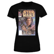 Star Wars Classic Classic Comic Book Cover Damen T-Shirt - Schwarz