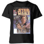 Star Wars Classic Classic Comic Book Cover Kinder T-Shirt - Schwarz