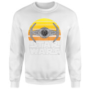 Star Wars Sunset Tie Sweatshirt - White