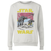 Star Wars ATAT Women's Sweatshirt - White