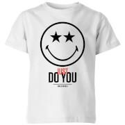 Smiley World Slogan Just Do You Kids' T-Shirt - White